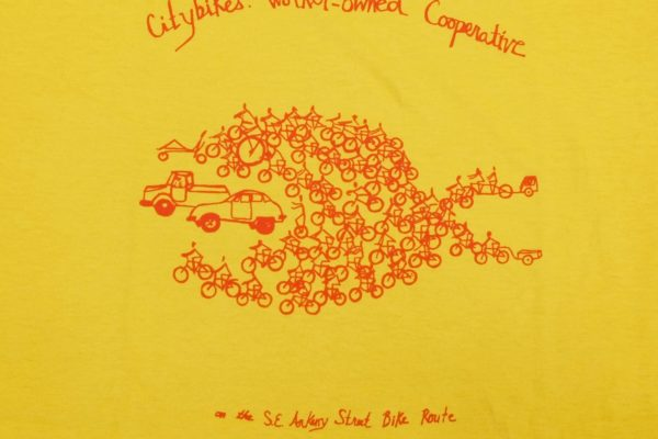 citybikes car/fish t-shirt